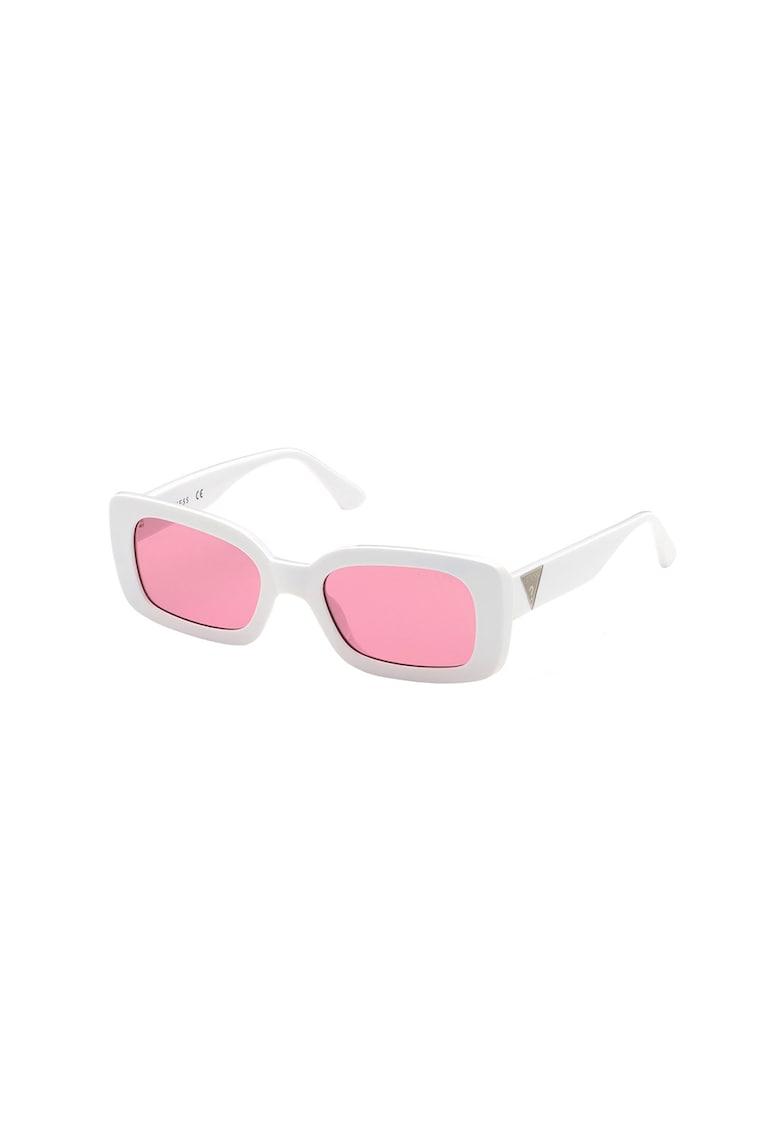 Ochelari de soare dreptunghiulari polarizati cu logo imagine fashiondays.ro