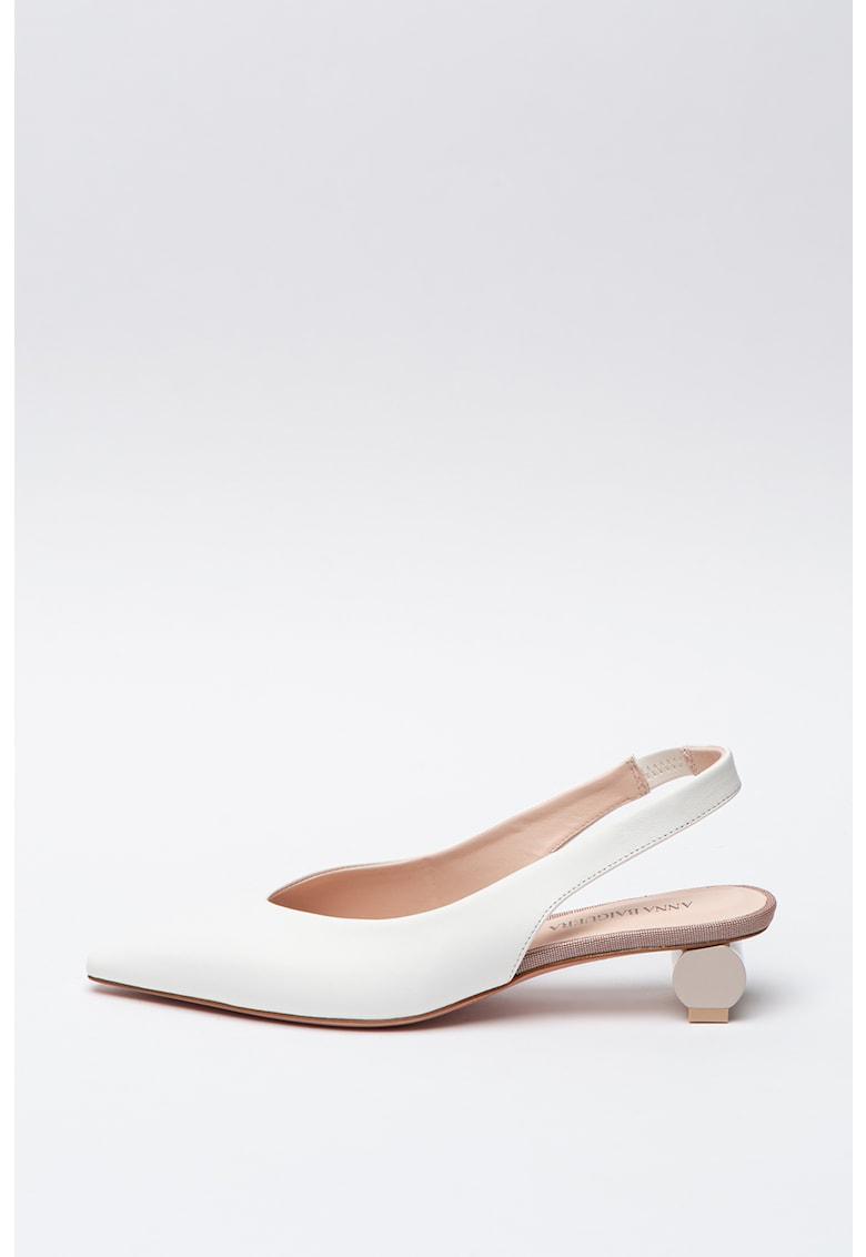 Pantofi slingback de piele cu varf ascutit Alis