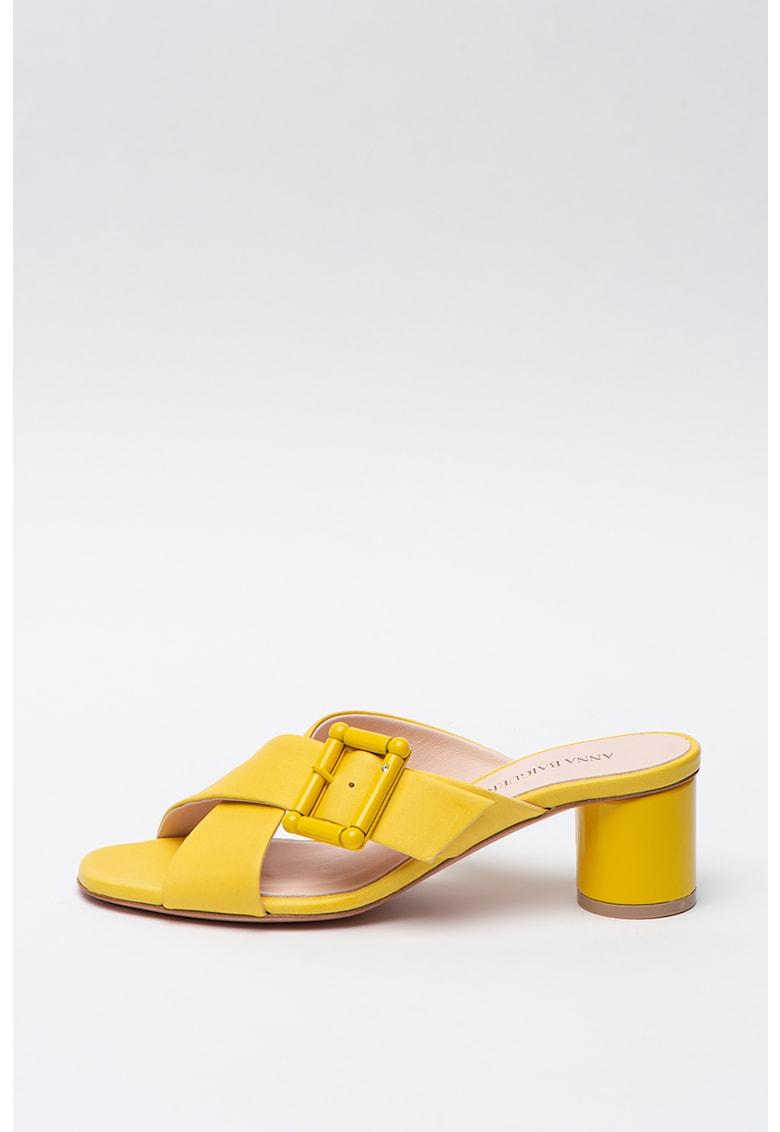 Sandale slip-on de piele Annalena