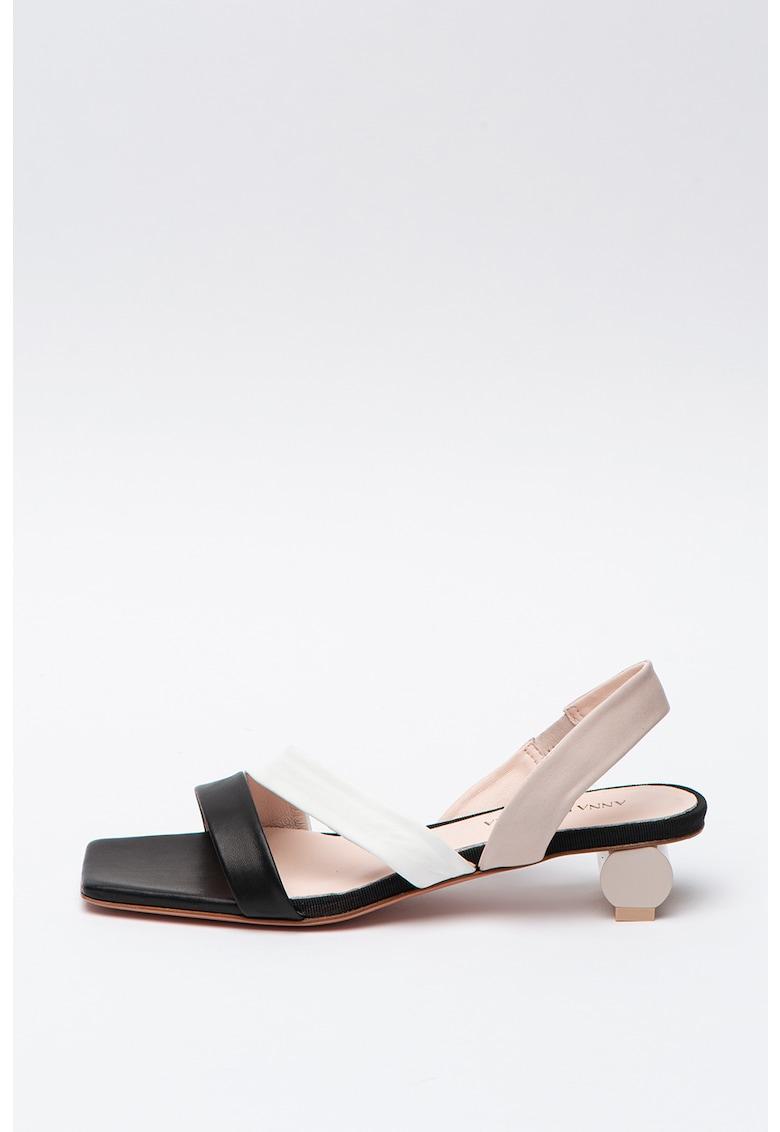 Sandale de piele cu toc Artemis