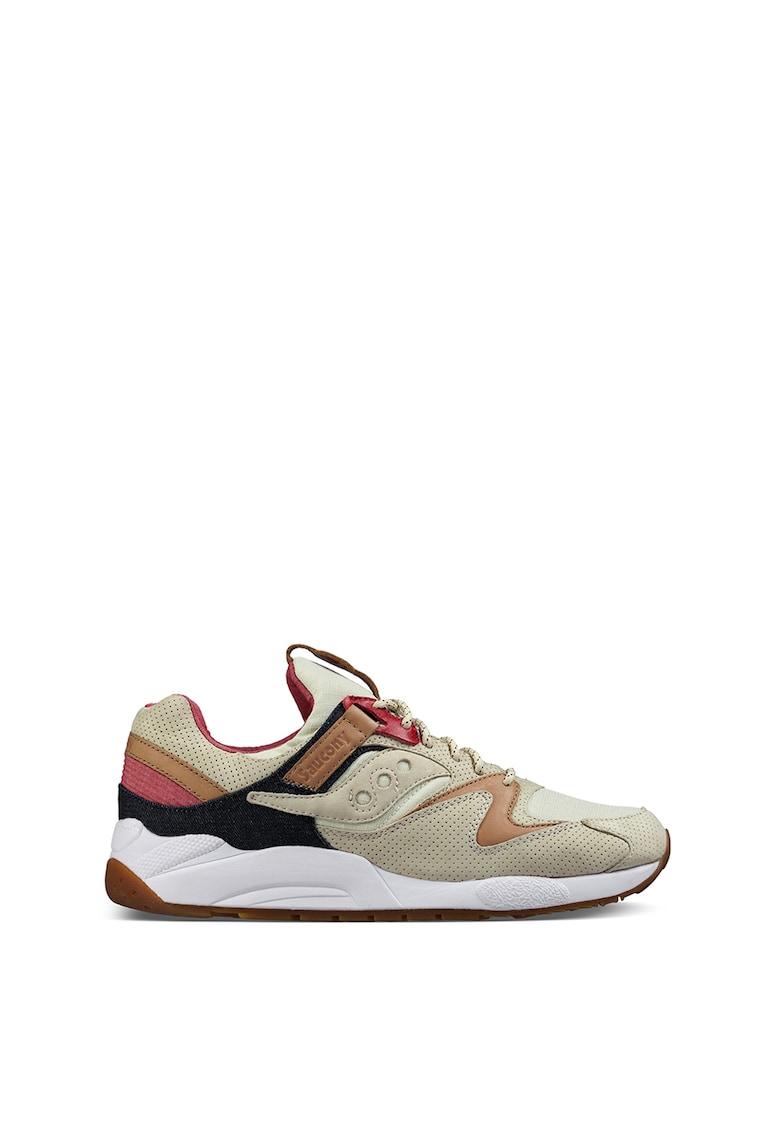 Pantofi sport cu garnituri de piele Grid 9000