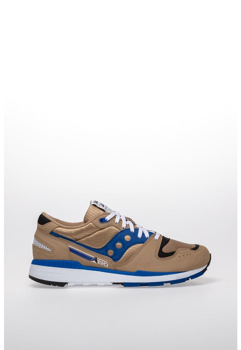Pantofi sport de piele ecologica si material textil AZURA