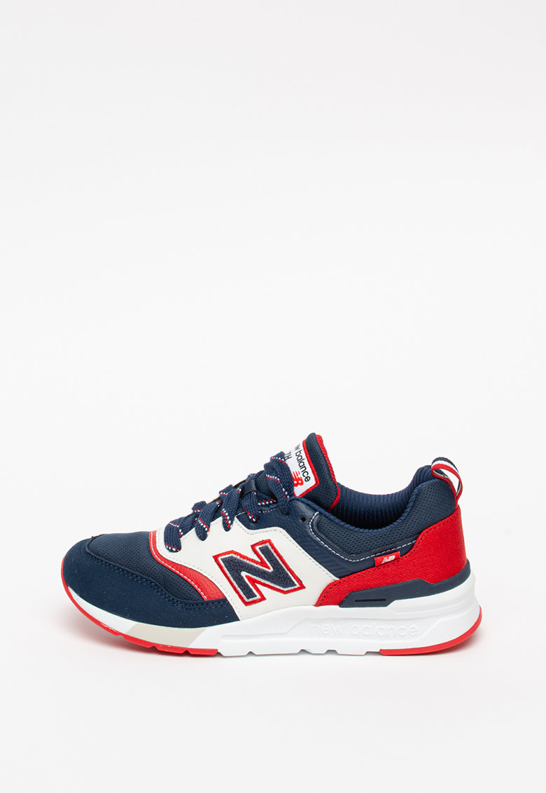 Pantofi sport de plasa cu model colorblock 997H imagine
