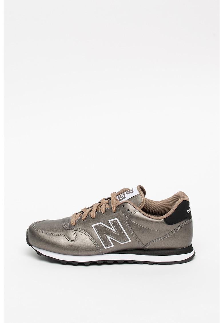 Pantofi sport de piele ecologica cu aspect metalizat 500