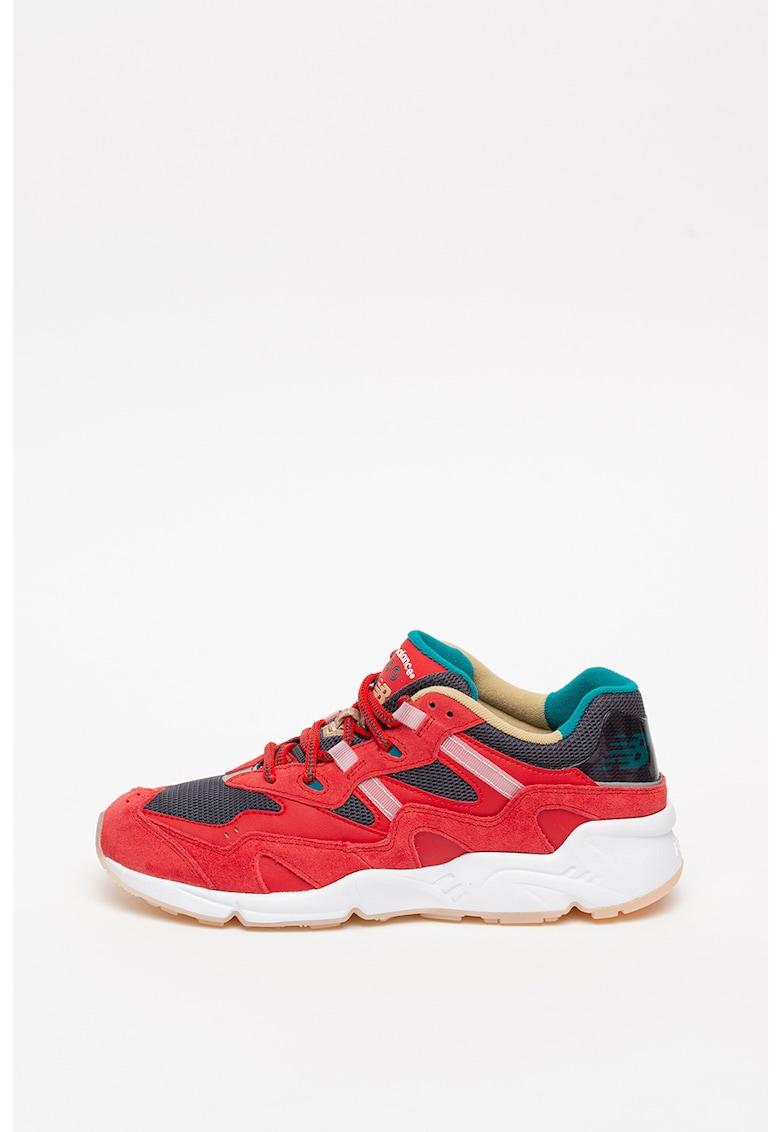 Pantofi sport colorblock cu garnituri de piele intoarsa 850
