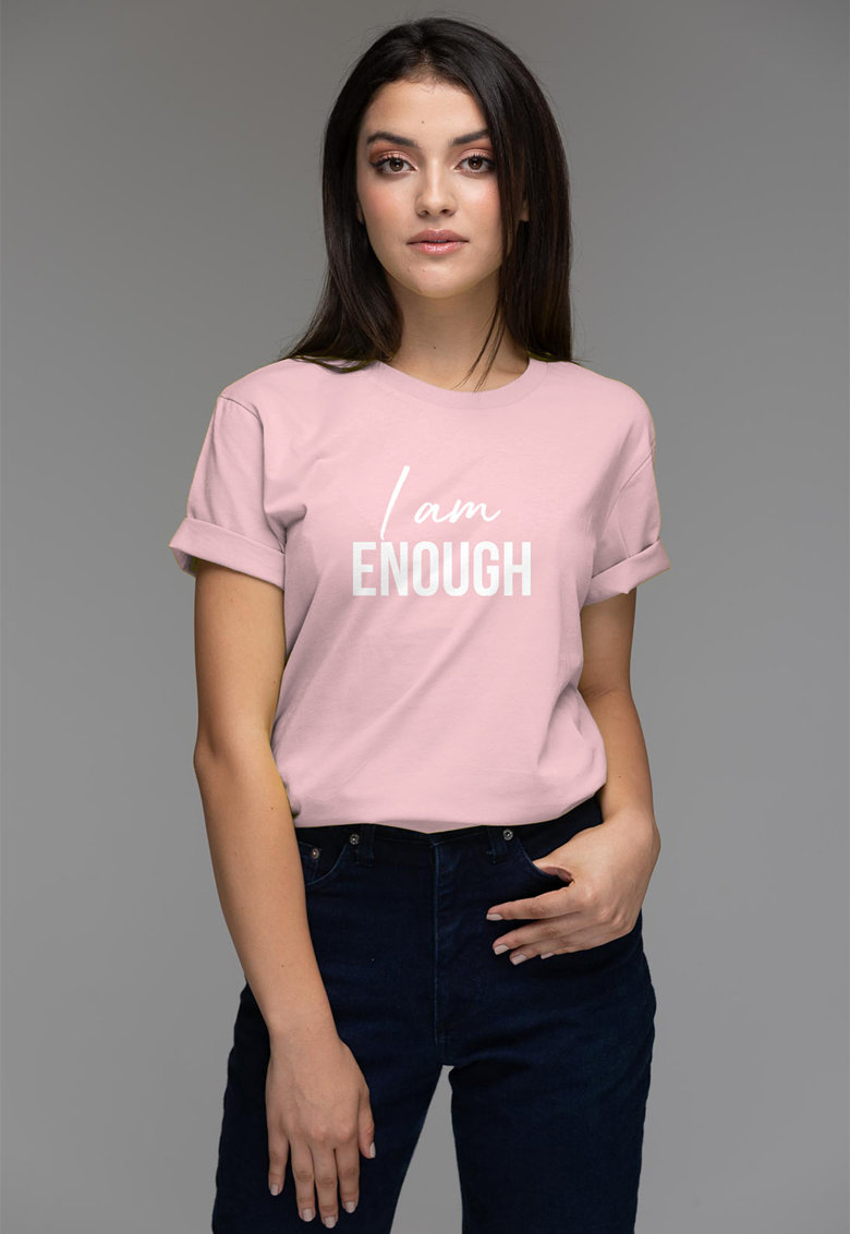 Tricou de bumbac organic cu imprimeu text