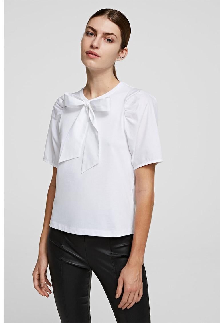 Bluza cu fronseuri si aplicatie funda imagine