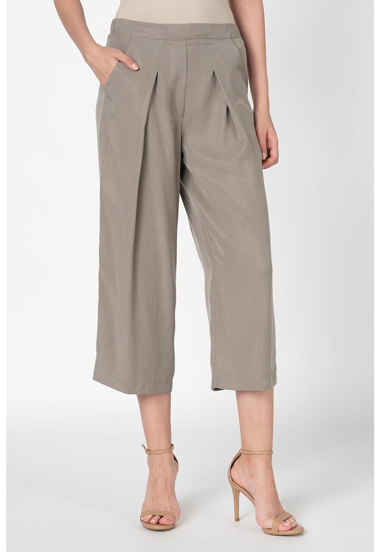 Pantaloni relaxed fit cu talie elastica imagine