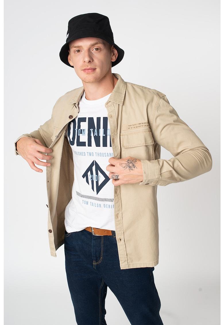 Jacheta tip camasa relaxed fit cu buzunare cu clapa imagine