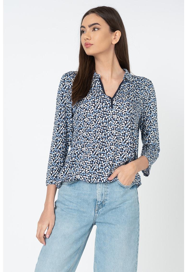 Bluza tip tunica din amestec de modal - cu model floral