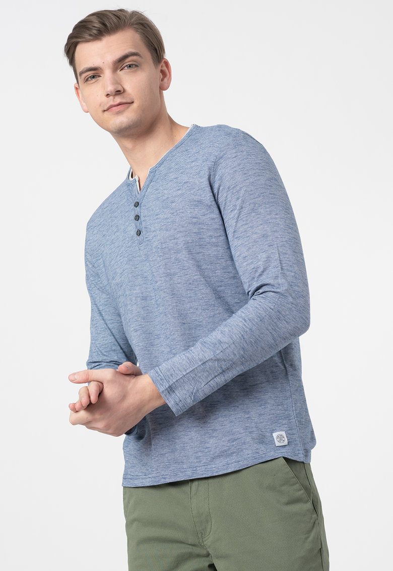 Bluza cu decolteu Henley imagine