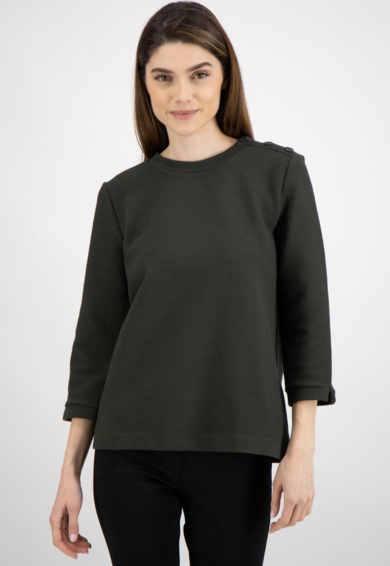 Bluza texturata cu maneci 3/4 imagine