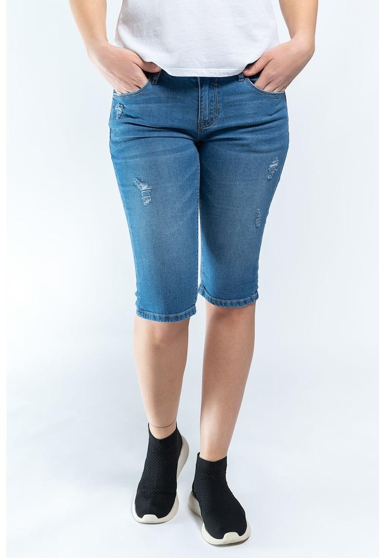 Pantaloni scurti de denim cu 5 buzunare