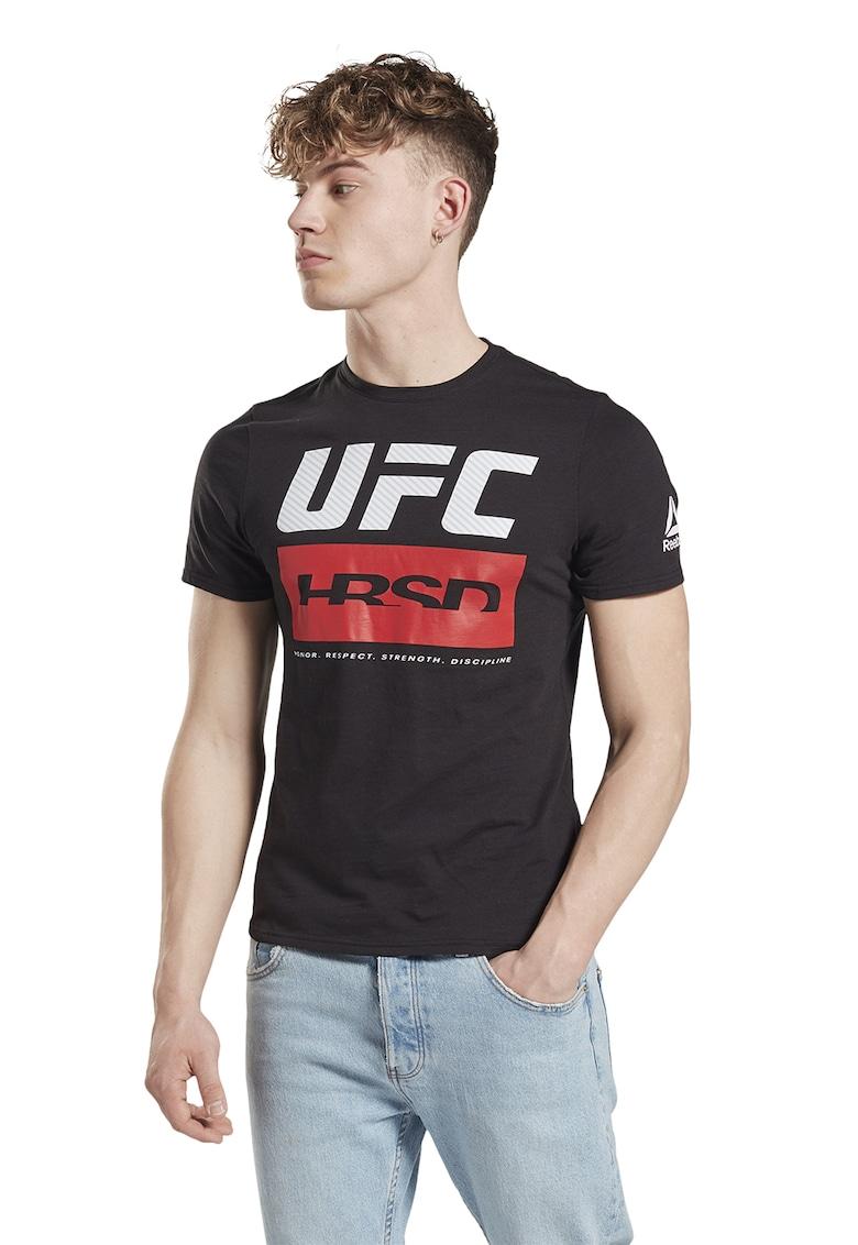 Tricou slim fit cu imprimeu logo Ufc