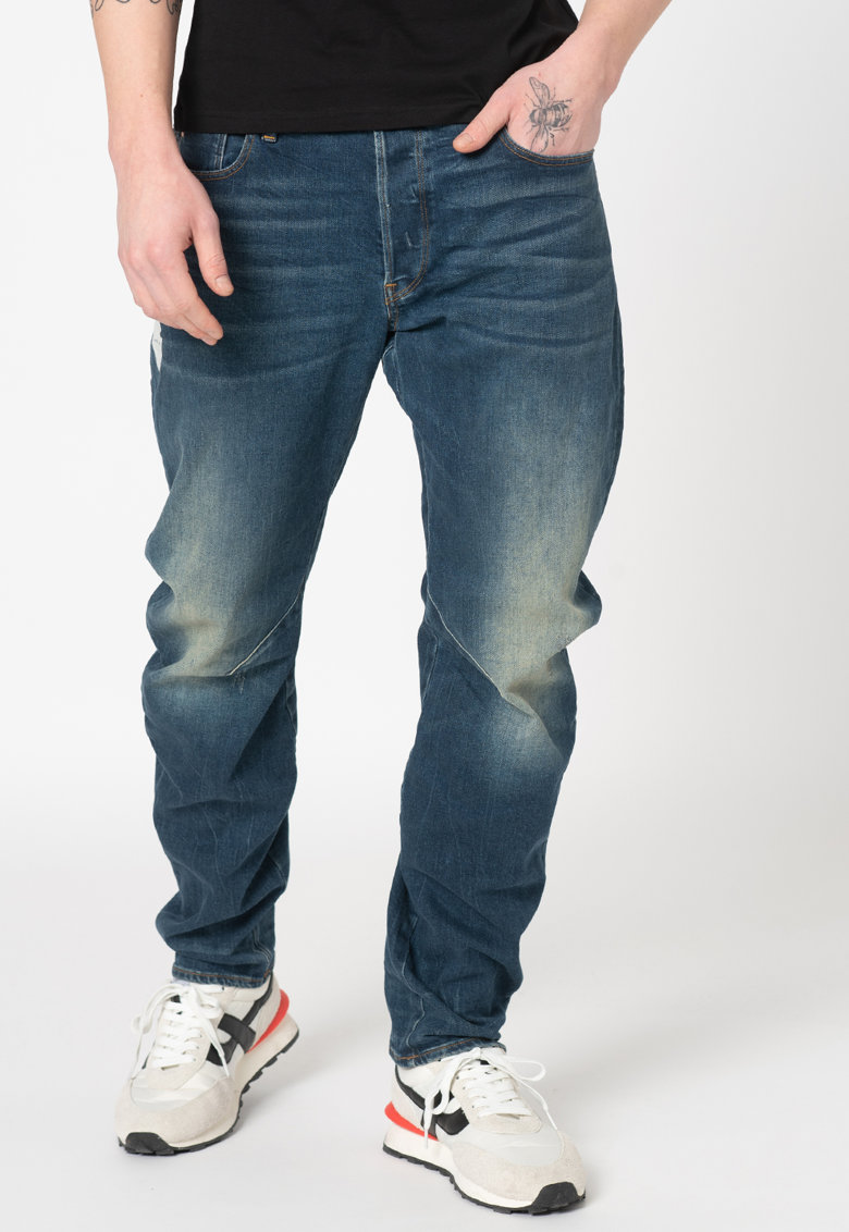 G-Star RAW Blugi slim fit cu aspect decolorat Arc 3D