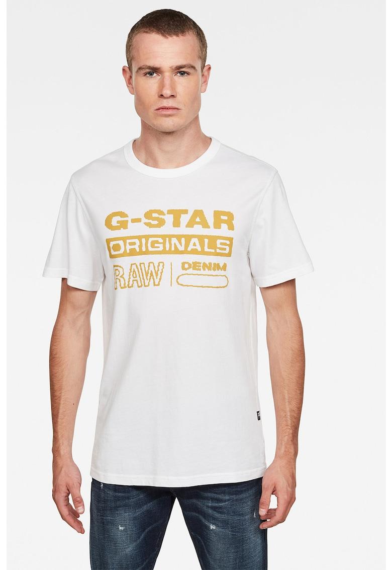 Tricou de bumbac organic cu imprimeu logo