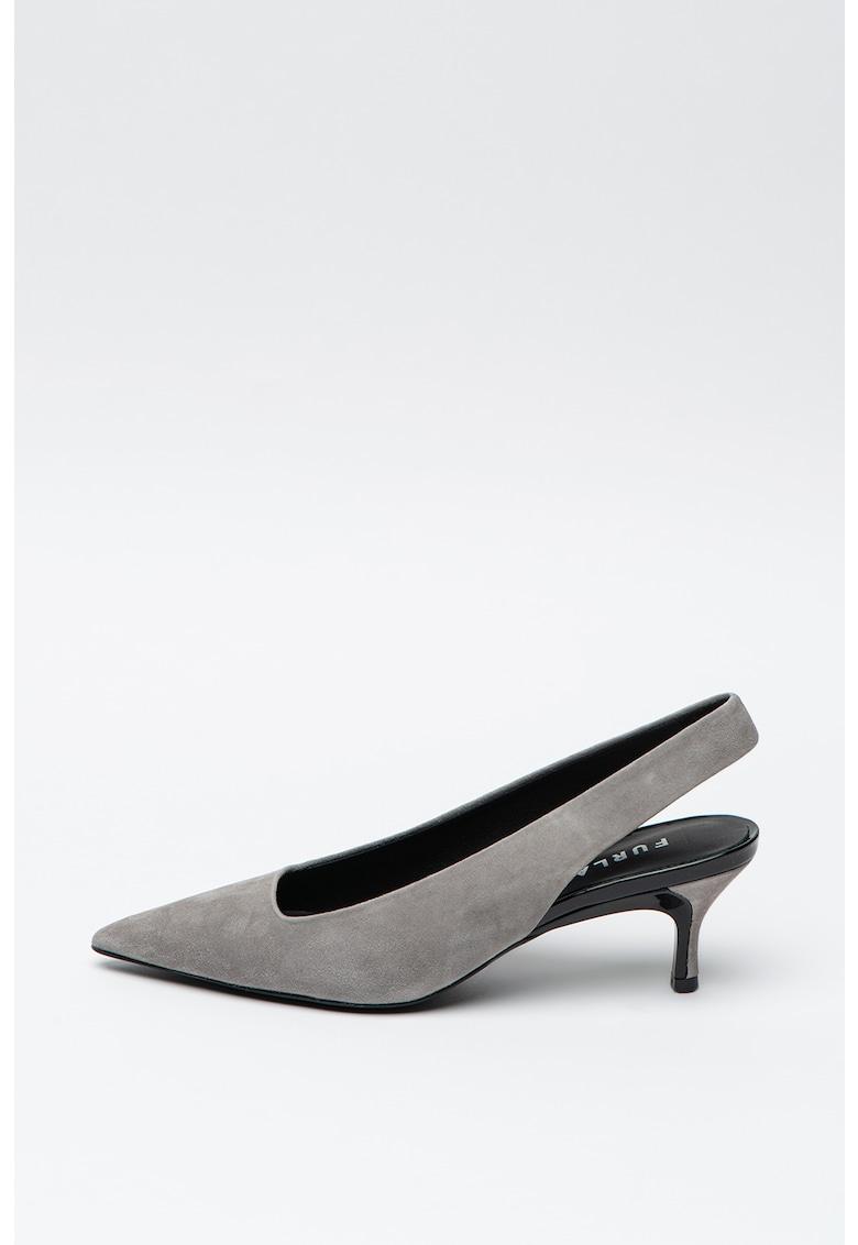 Pantofi slingback de piele intoarsa Code imagine
