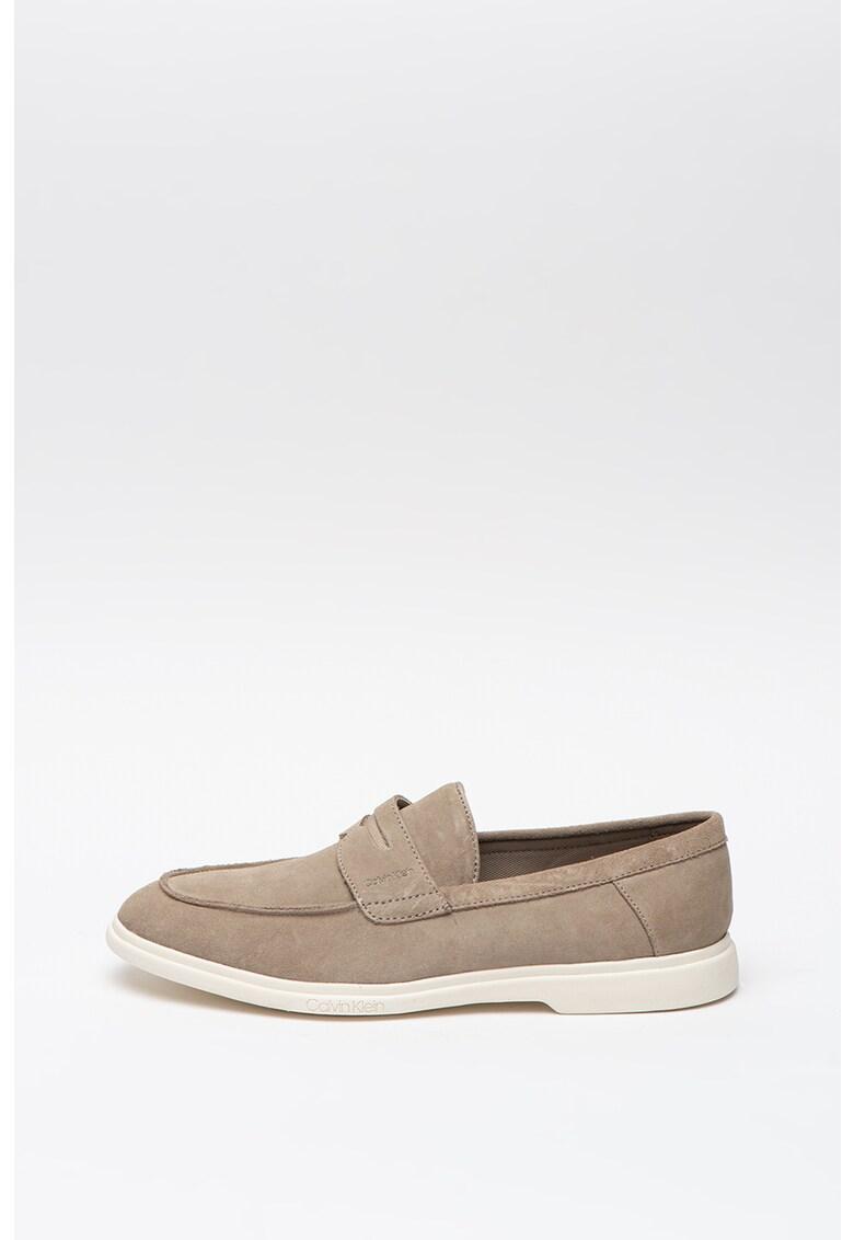 Pantofi loafer penny de piele intoarsa Timothy