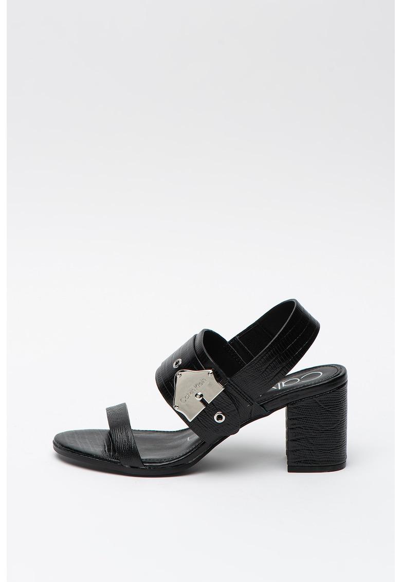 Sandale slingback de piele Carlita