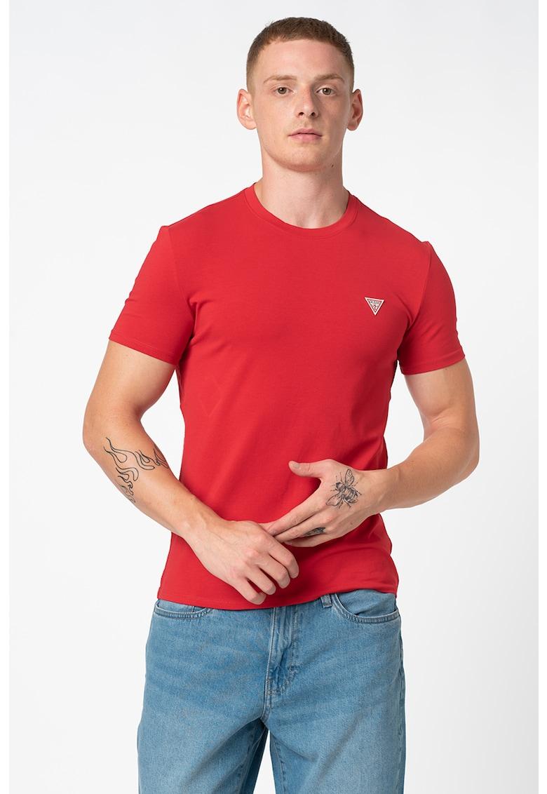Tricou slim fit cu logo discret
