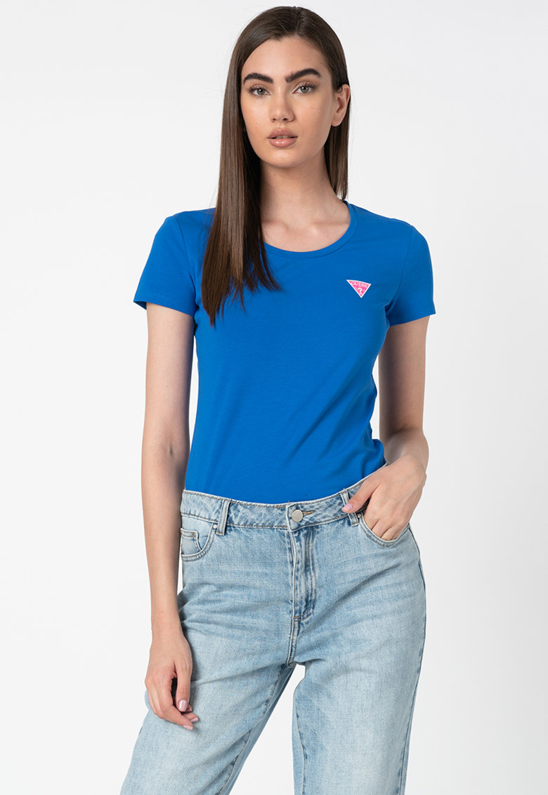 Tricou cu imprimeu logo discret