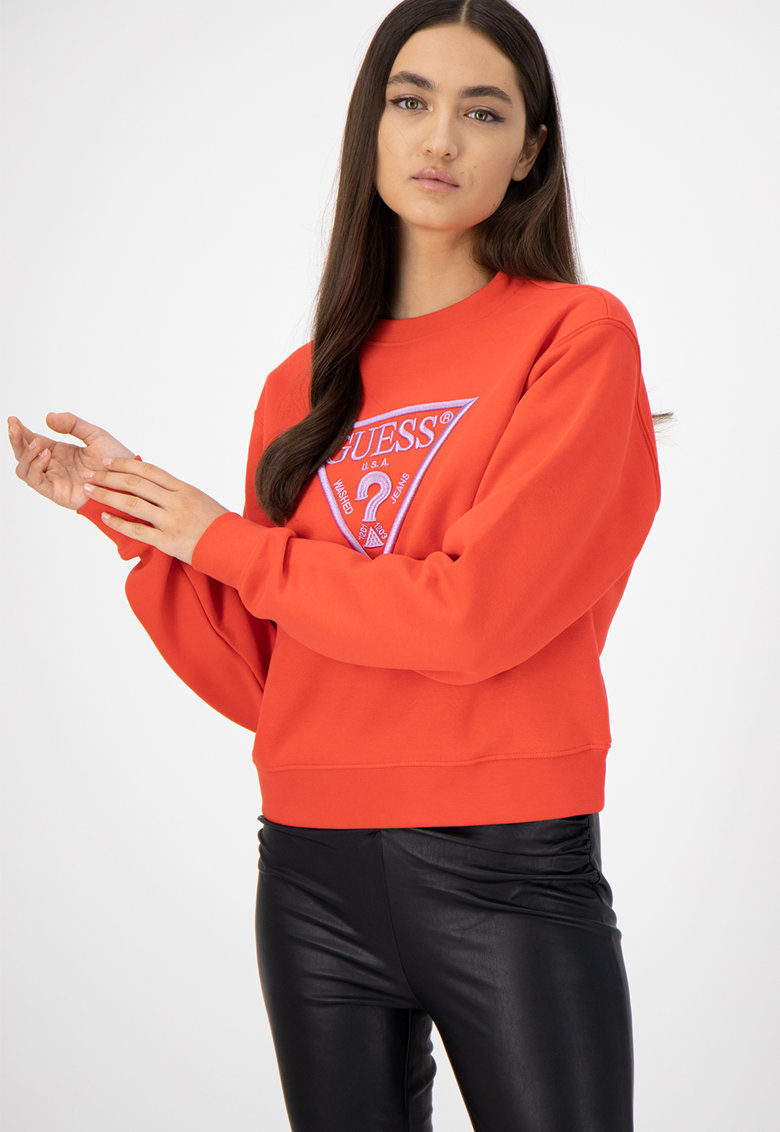 Bluza sport din amestec de bumbac cu logo