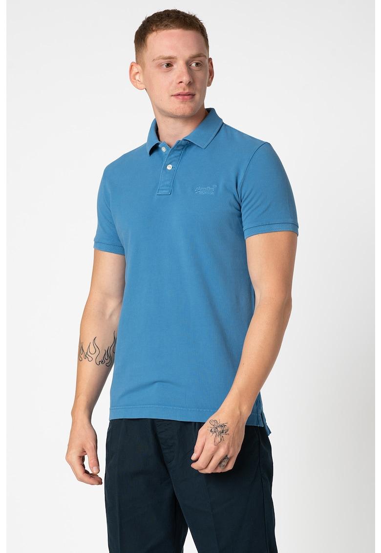 Tricou polo cu logo brodat pe piept imagine fashiondays.ro