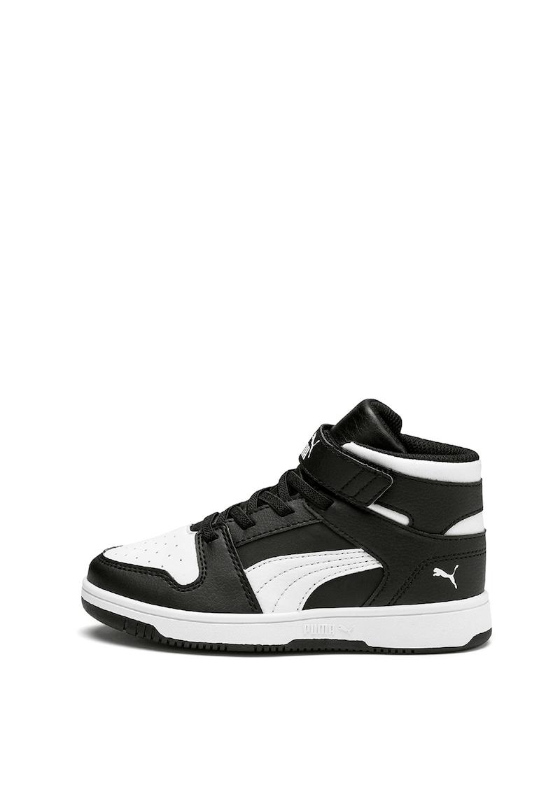 Pantofi sport mid-high de piele ecologica Rebound Layup de la Puma