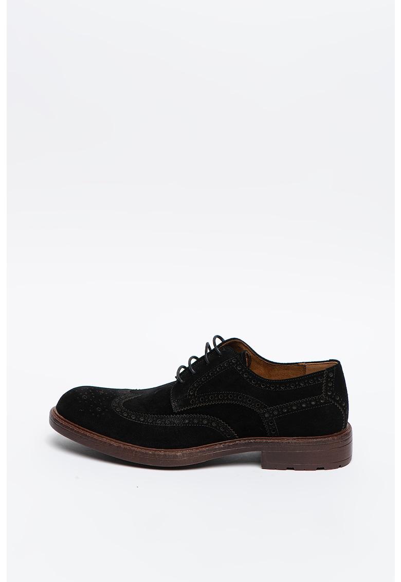 Pantofi Brogue de piele intoarsa Neerick imagine