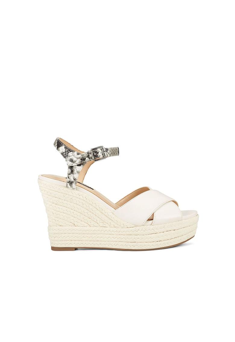 Sandale wedge tip espadrile - de piele ecologica Dane fashiondays.ro