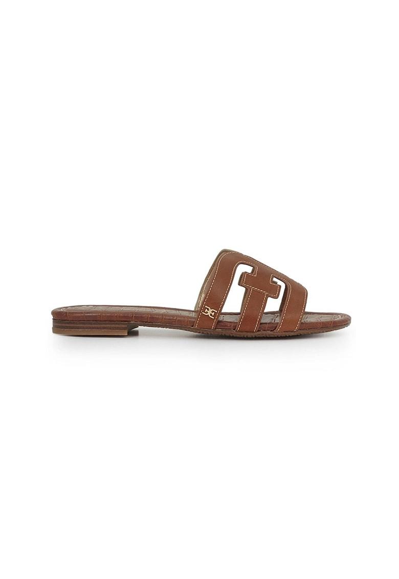 Papuci de piele cu garnituri metalizate Bay imagine