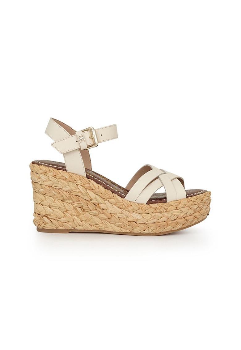 Sandale din piele cu talpa wedge Darline poza fashiondays