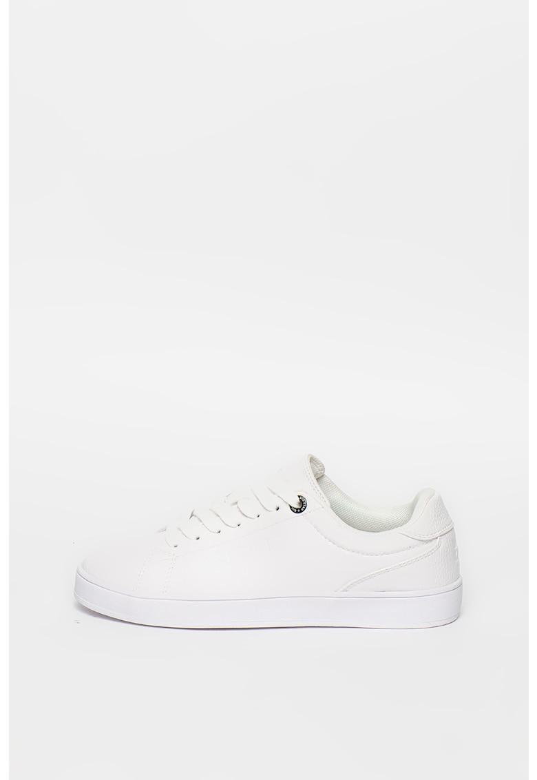 Pantofi sport din piele ecologica cu aspect texturat