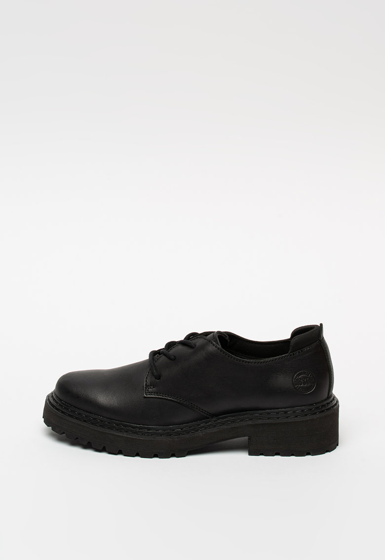 Pantofi derby din piele cu talpa aderenta