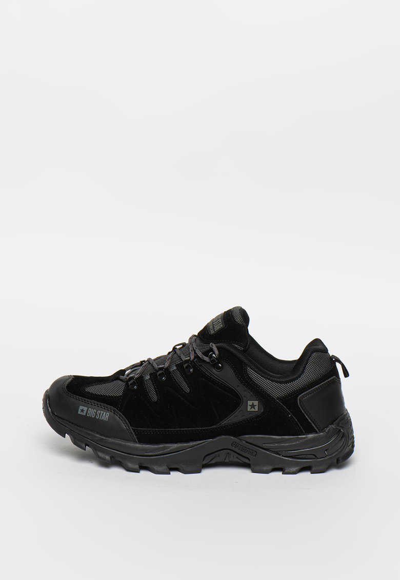 Pantofi sport de piele ecologica cu insertie de plasa
