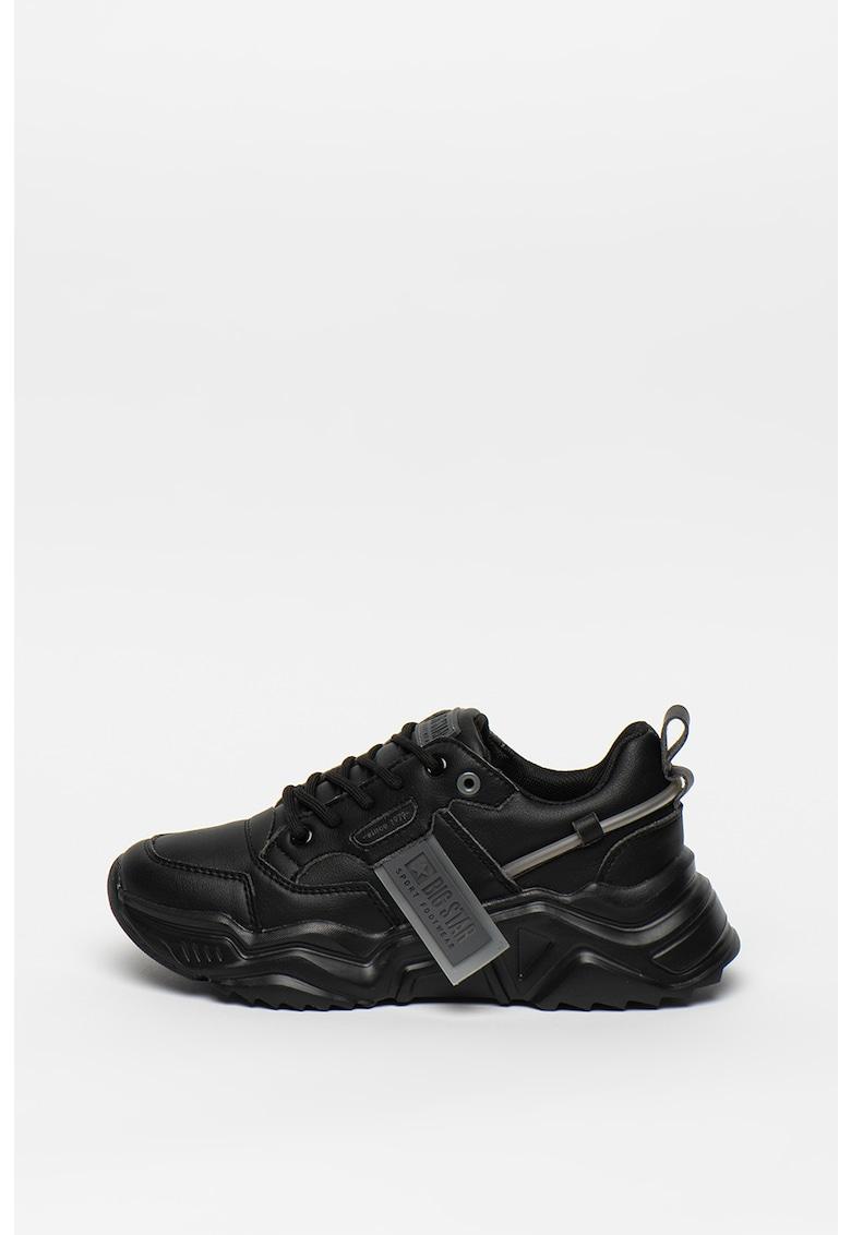 Pantofi sport cu aspect stralucitor 3