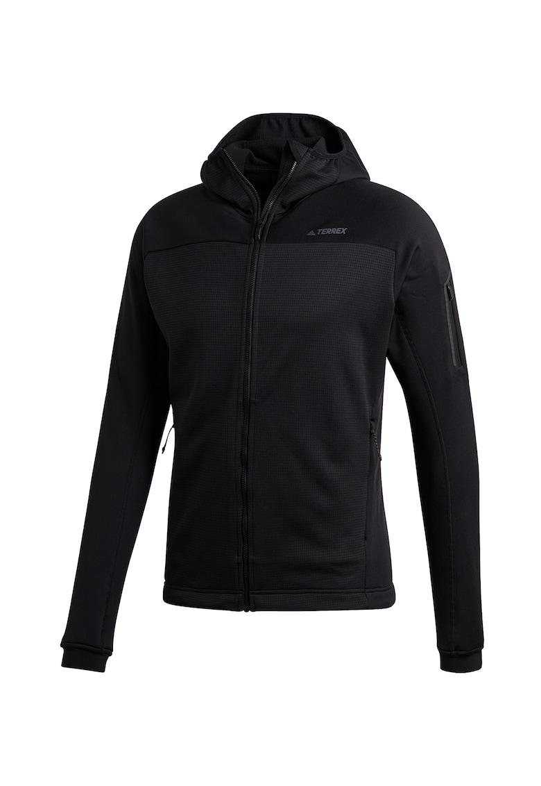 Jacheta din fleece - cu gluga - pentru drumetii Stockhorn