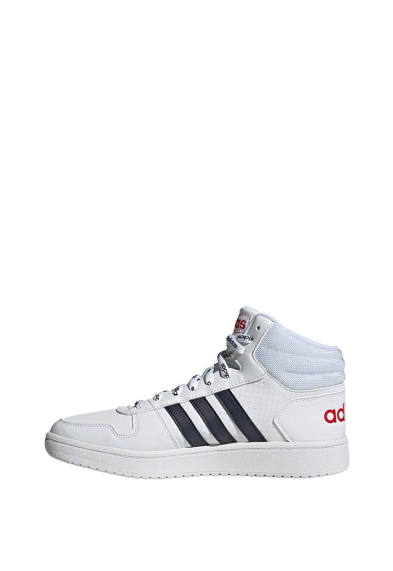 Pantofi sport mid-high de piele ecologica Hoops 2.0 imagine
