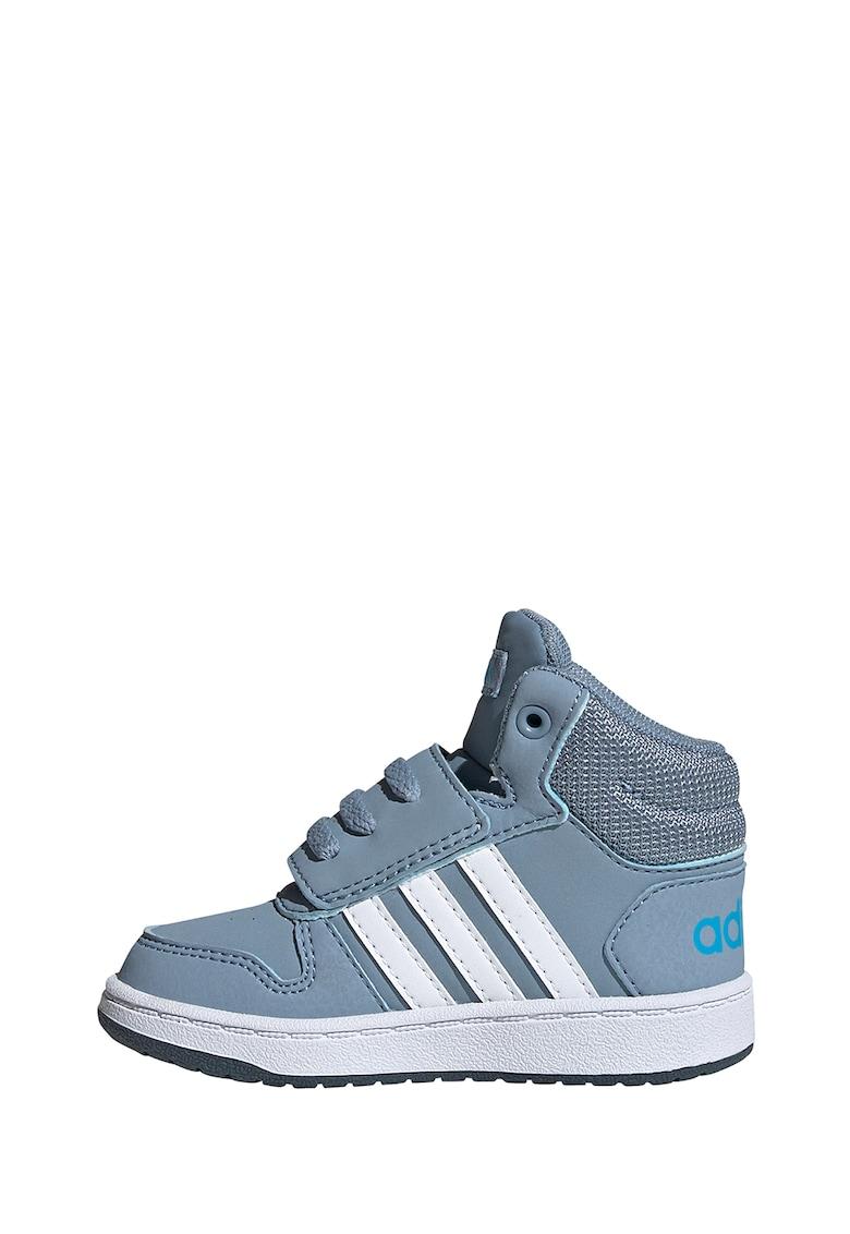 Pantofi sport mid-high de piele ecologica Hoops 2.0