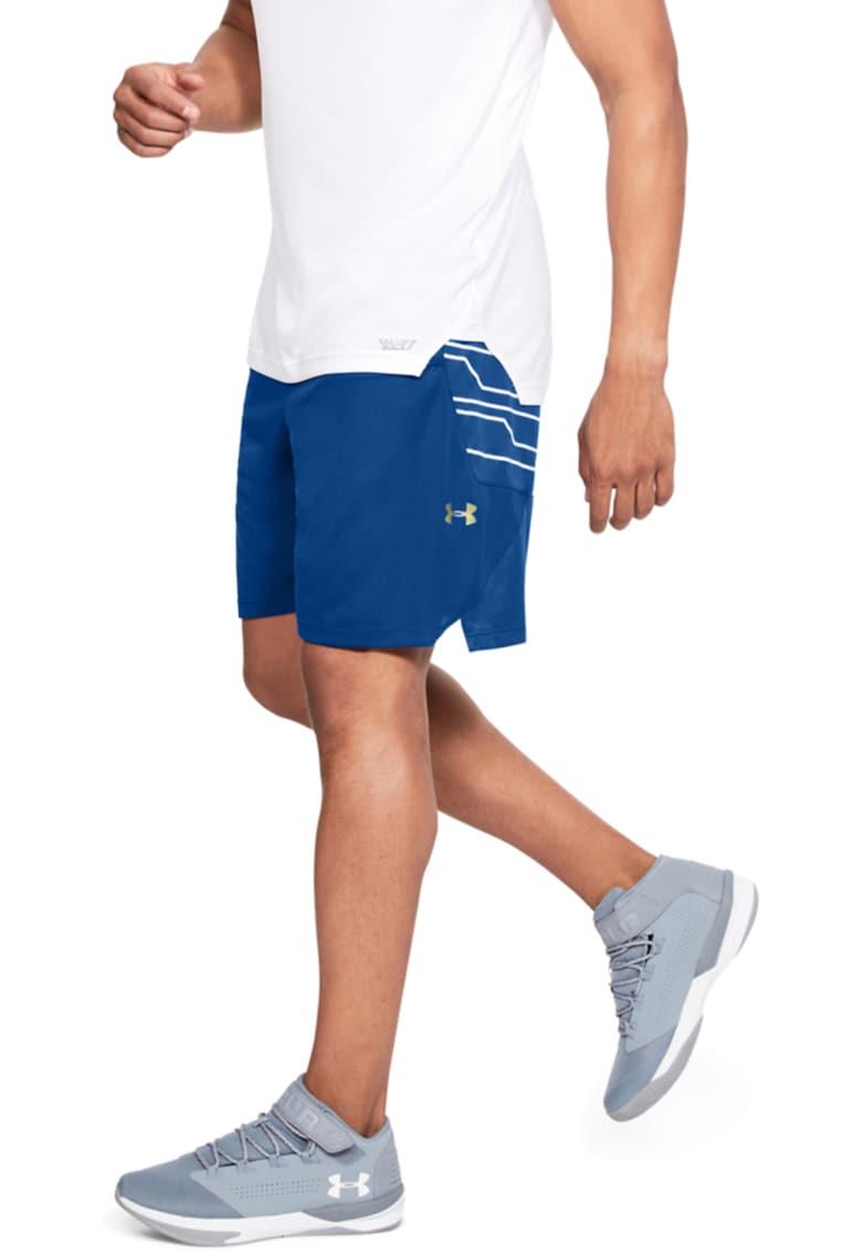 Pantaloni scurti cu croiala lejera si detalii cu imprimeu - pentru baschet fashiondays.ro
