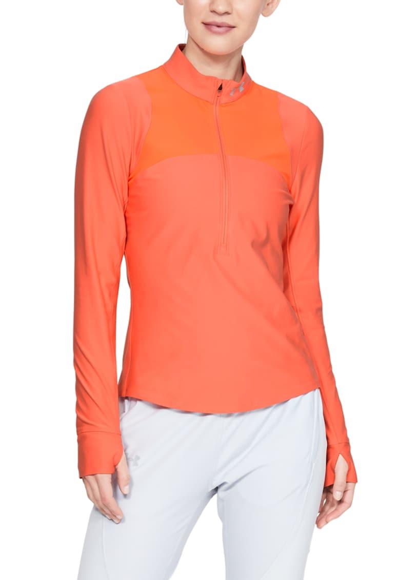 Bluza cambrata cu fermoar scurt pentru antrenament Qualifier imagine