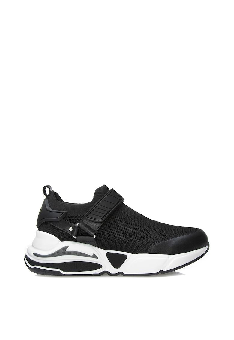 Pantofi sport slip-on de plasa - cu garnituri de piele Nadia 1