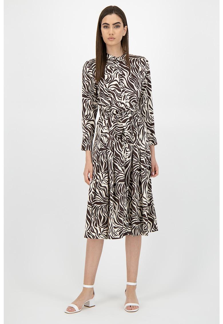 Rochie tip camasa cu animal print