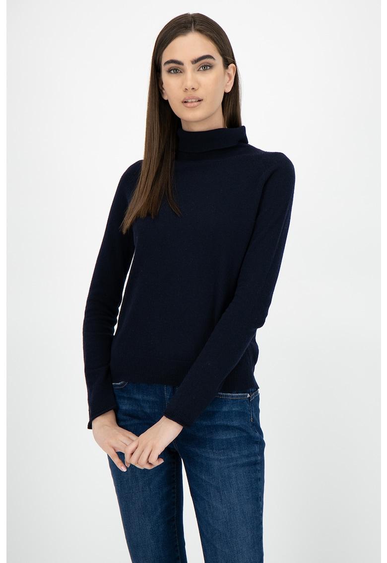 Pulover tricotat fin - din amestec de lana si lyocell