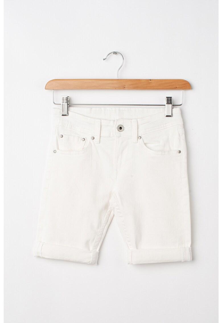 Pantaloni scurti slim fit din denim Beckets