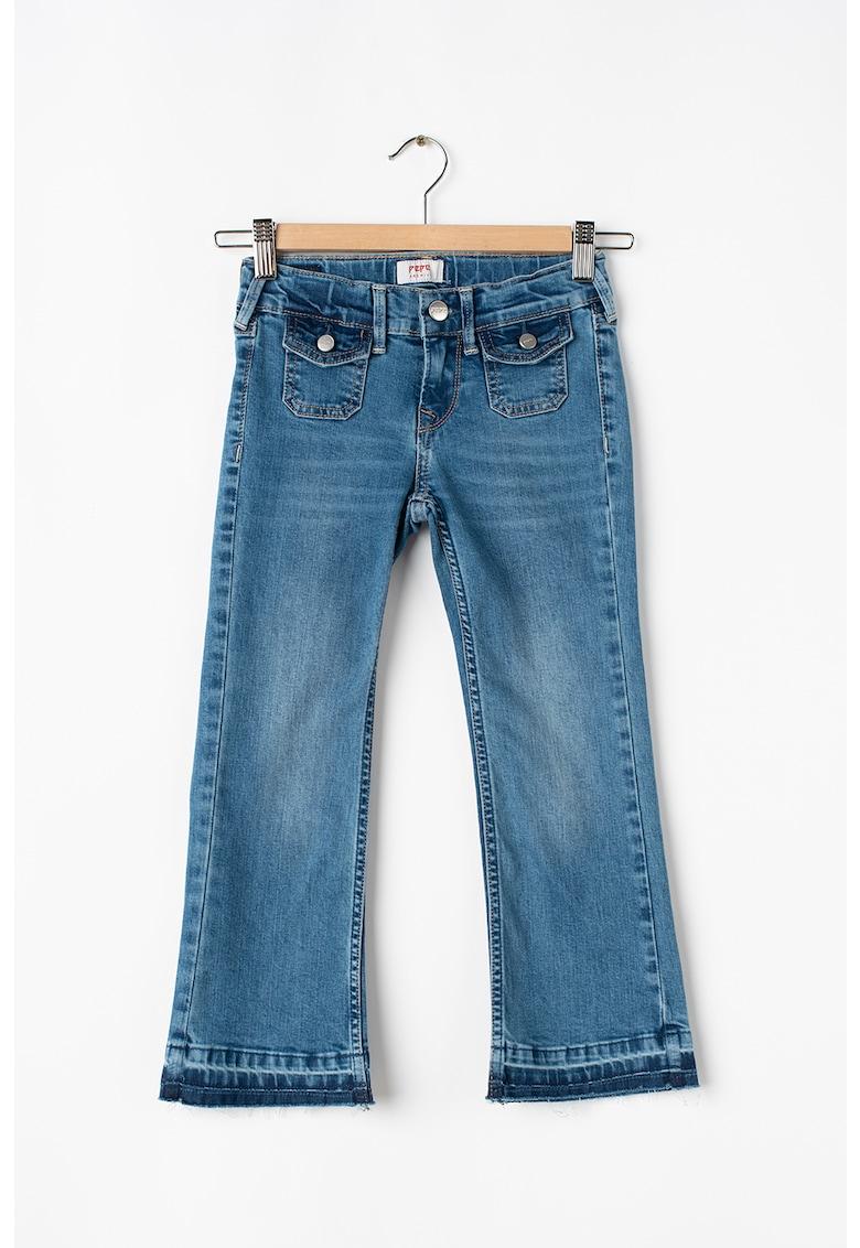 Pepe Jeans London Blugi cu buzunare cu clapa si nasture