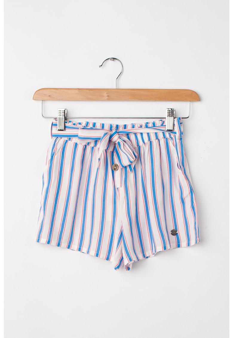 Pantaloni scurti din bumbac cu model in dungi Oli