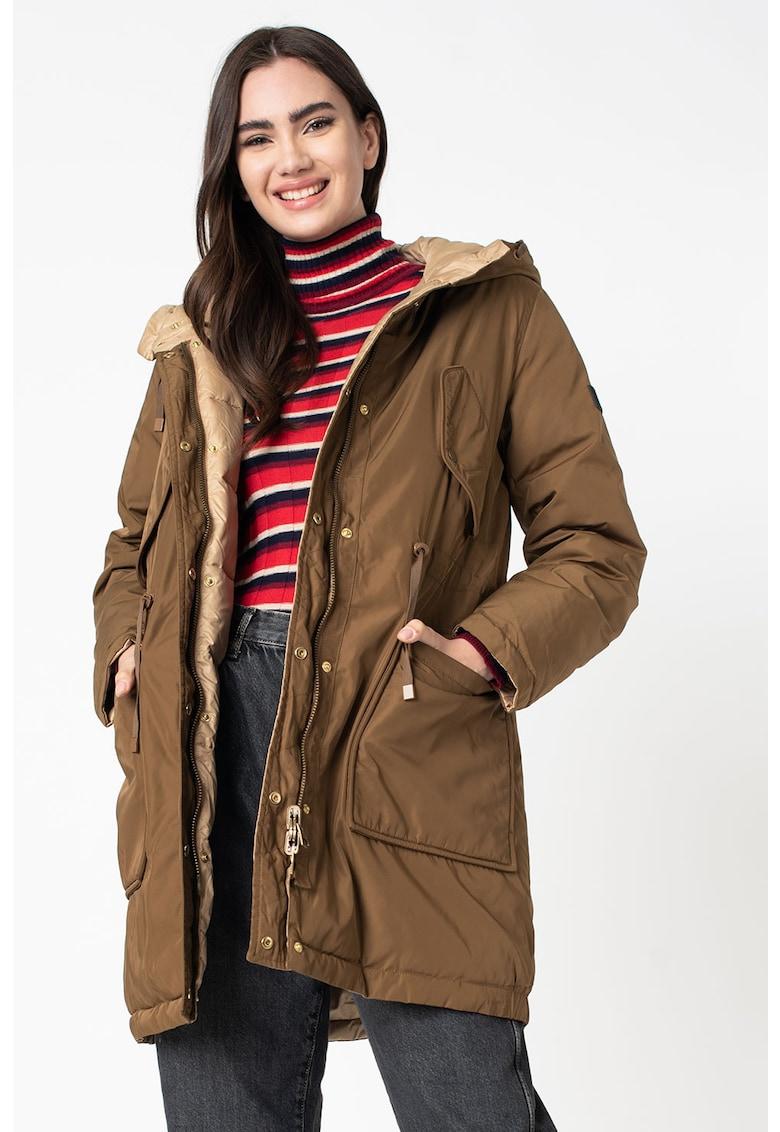 Geaca cu gluga si model reversibil Rebeca poza fashiondays