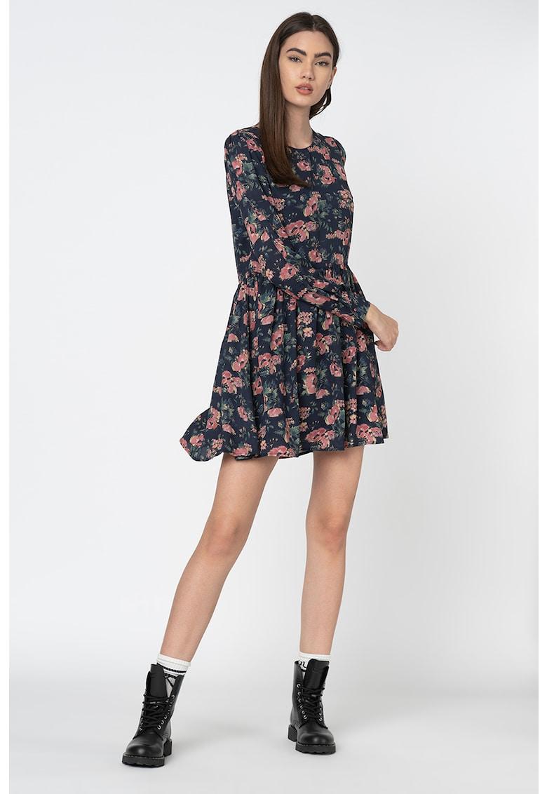 Rochie vaporoasa cu model floral Rosario