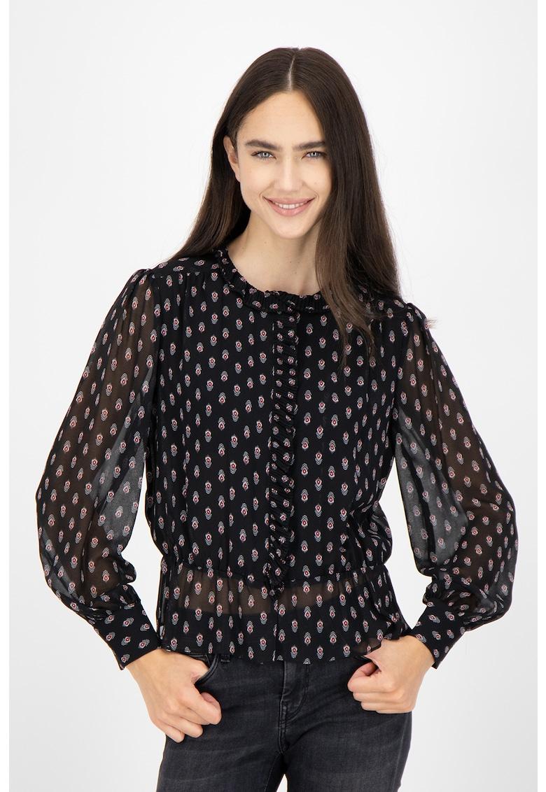 Bluza cu imprimeu si maneci semitransparente Nora imagine